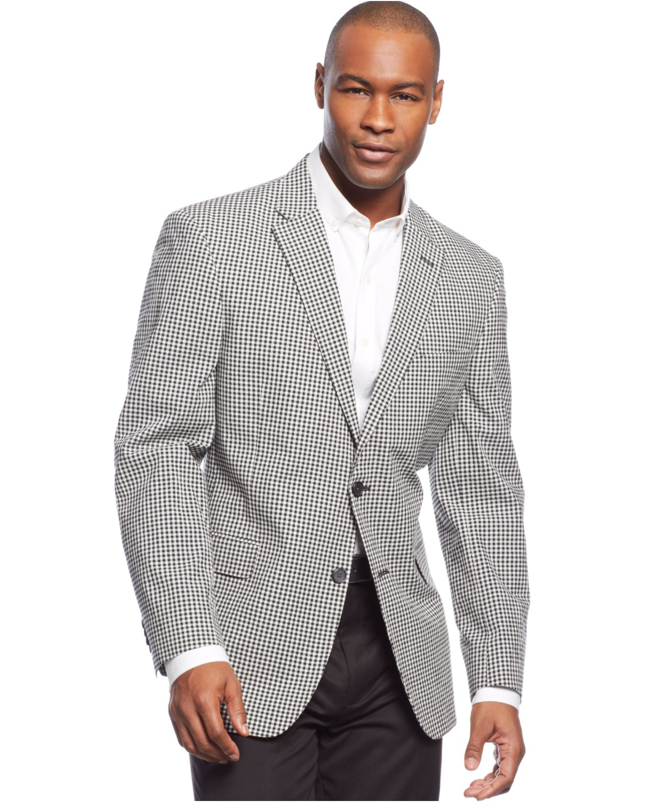 Tommy hilfiger Trim-fit Seersucker Checked Sport Coat in Black for ...