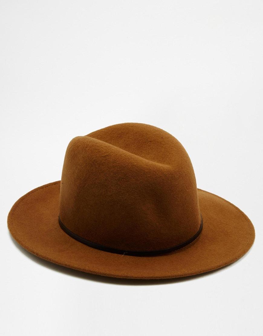 10c6a2ae5bd Catarzi Fedora Wide Brim Hat - Brown in Brown for Men - Lyst