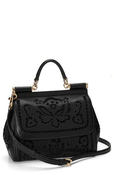 fa65405311 Dolce   Gabbana - Black Miss Sicily Embroidered Floral Satchel Shoulder Bag  - Lyst