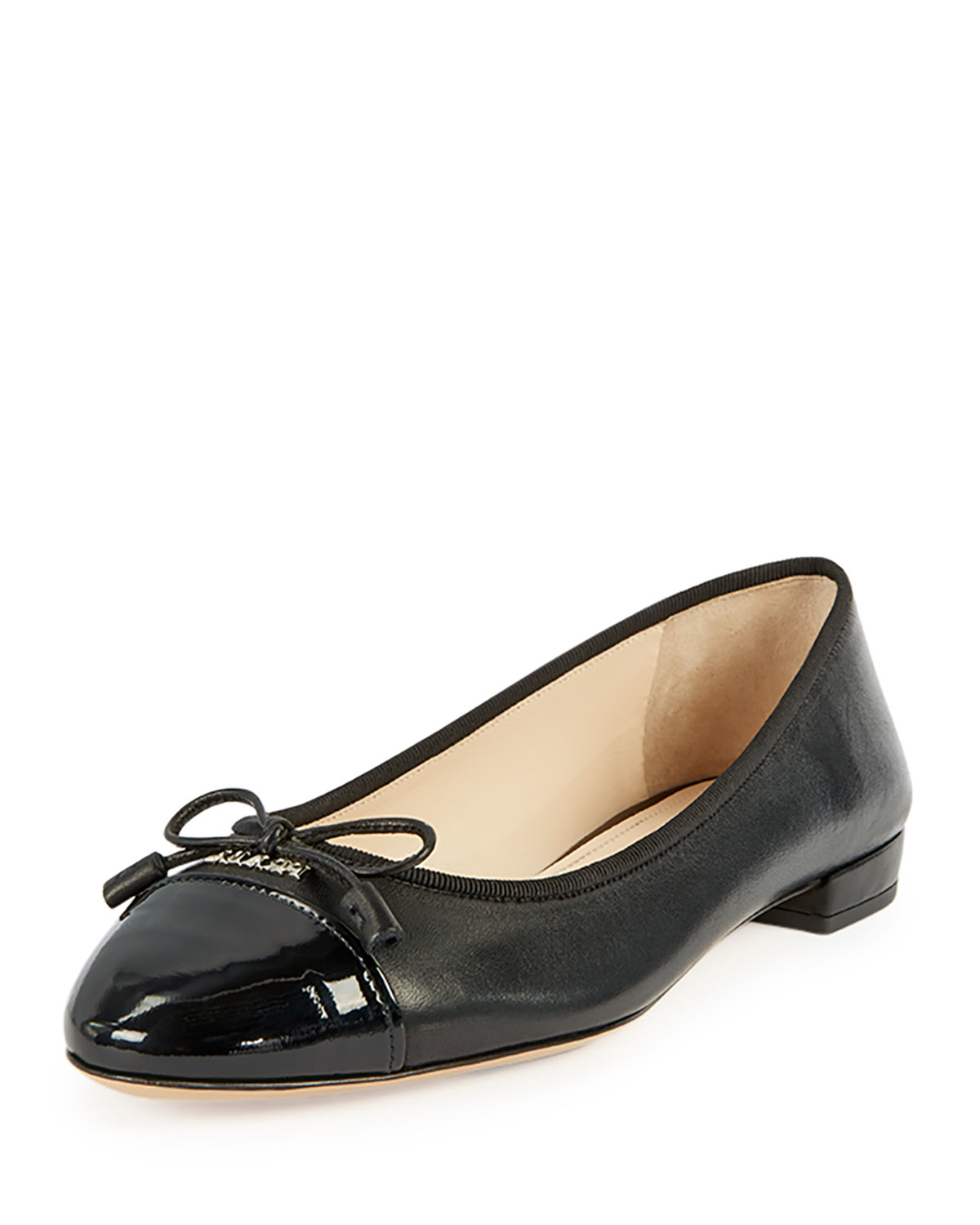Leather ballerina shoes Prada