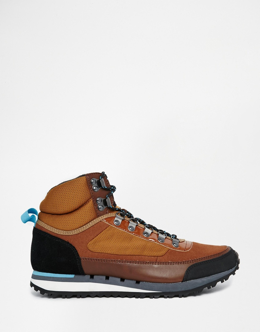 Fish n chips hiking boots in brown for men lyst for Fish and chips shoes