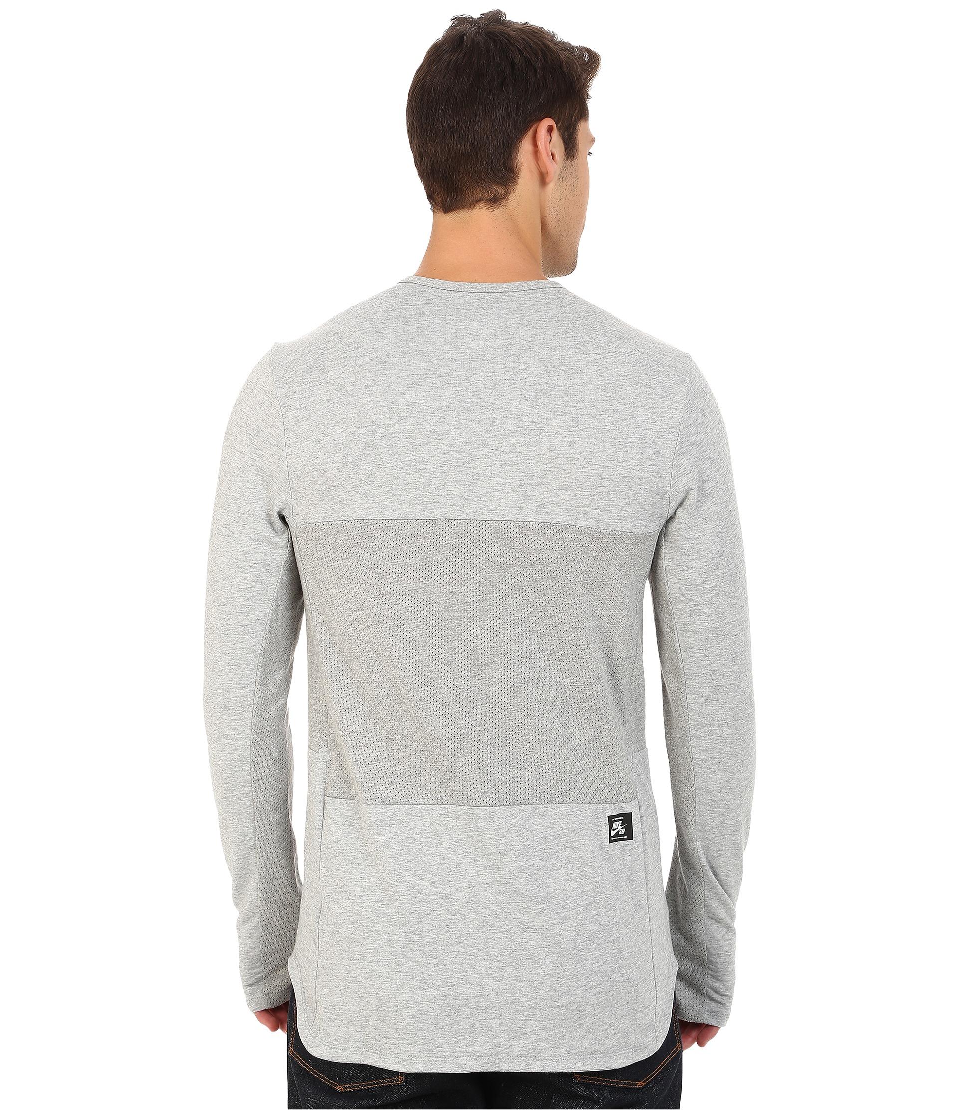 29166174 Nike Sb Skyline Dri-fit™ Cool Long Sleeve Crew in Gray for Men - Lyst