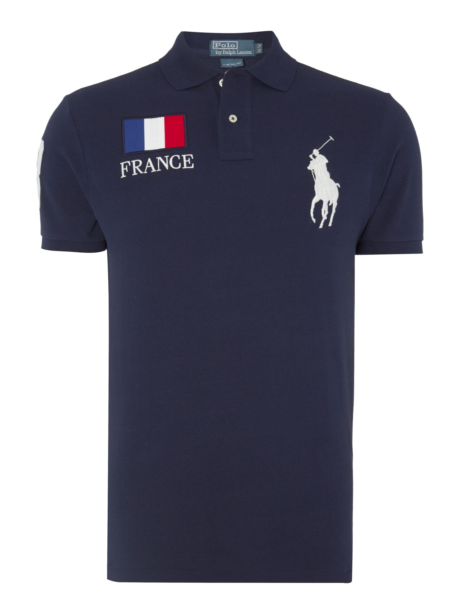 polo ralph lauren ralph lauren brazil themed polo shirt france in blue for men lyst. Black Bedroom Furniture Sets. Home Design Ideas