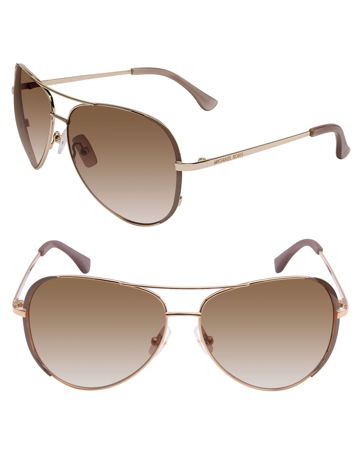 Michael Kors Montrose Sunglasses  michael kors michael sicily aviator sunglasses in gray lyst