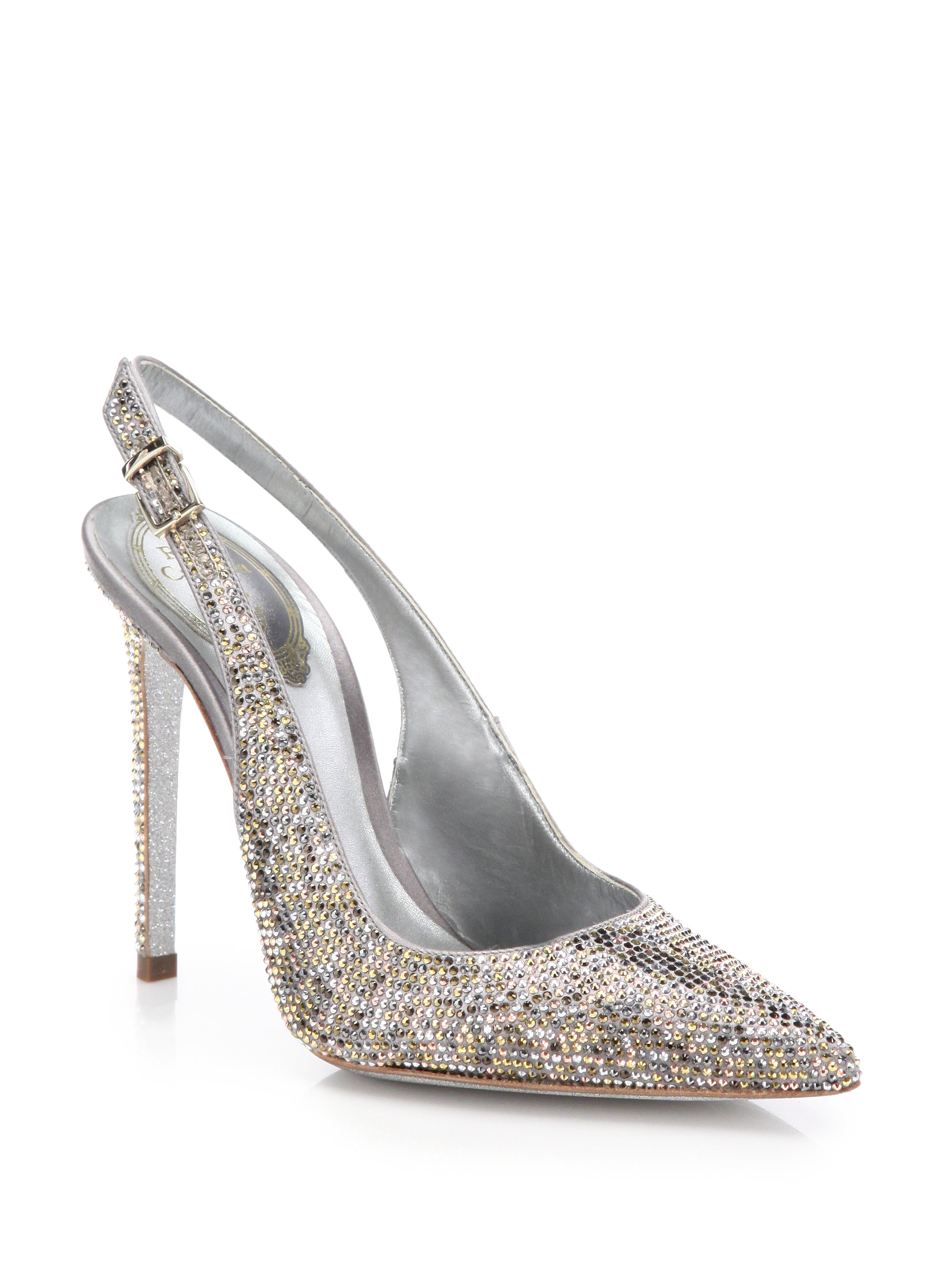 René Caovilla slingback crystal pumps outlet genuine cheap sale find great clearance brand new unisex nIRvPVdgLD