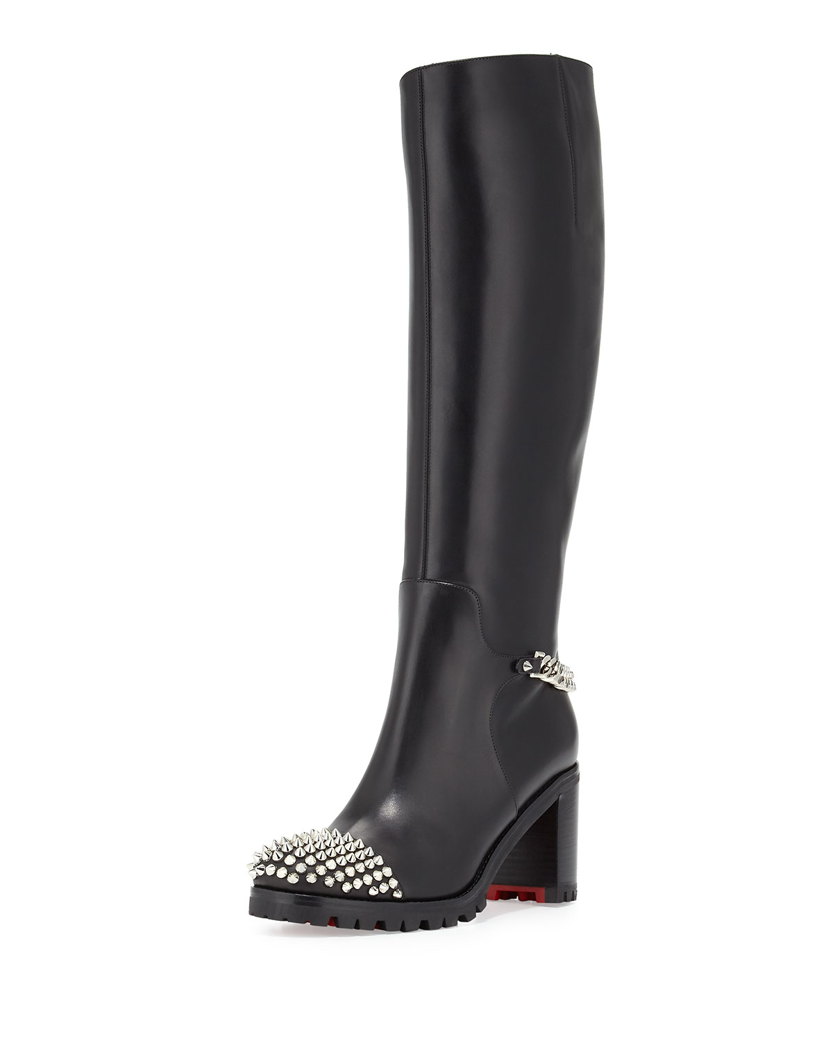 cost of christian louboutin shoes - christian louboutin ottaka suede fringe open-toe red sole bootie ...