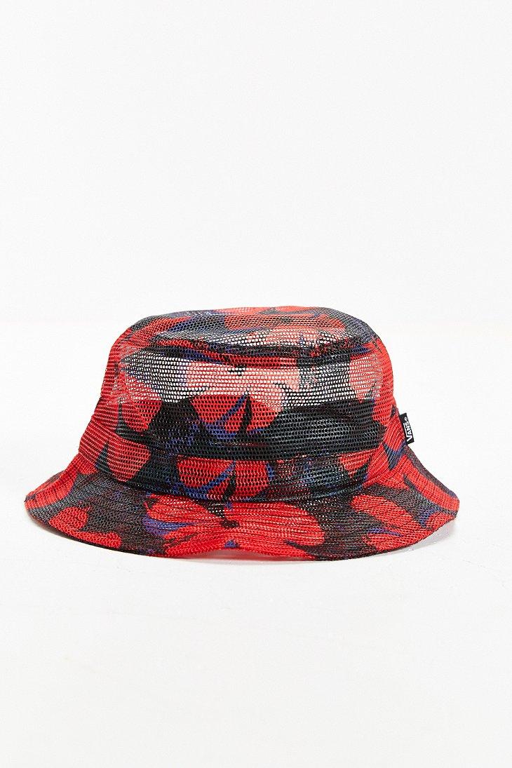 7457bf1a Vans Undertone Mesh Bucket Hat in Red for Men - Lyst