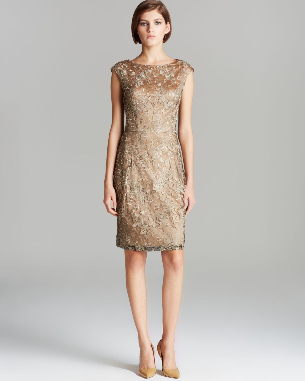 Cap sleeve gold lace dress – Dress blog Edin
