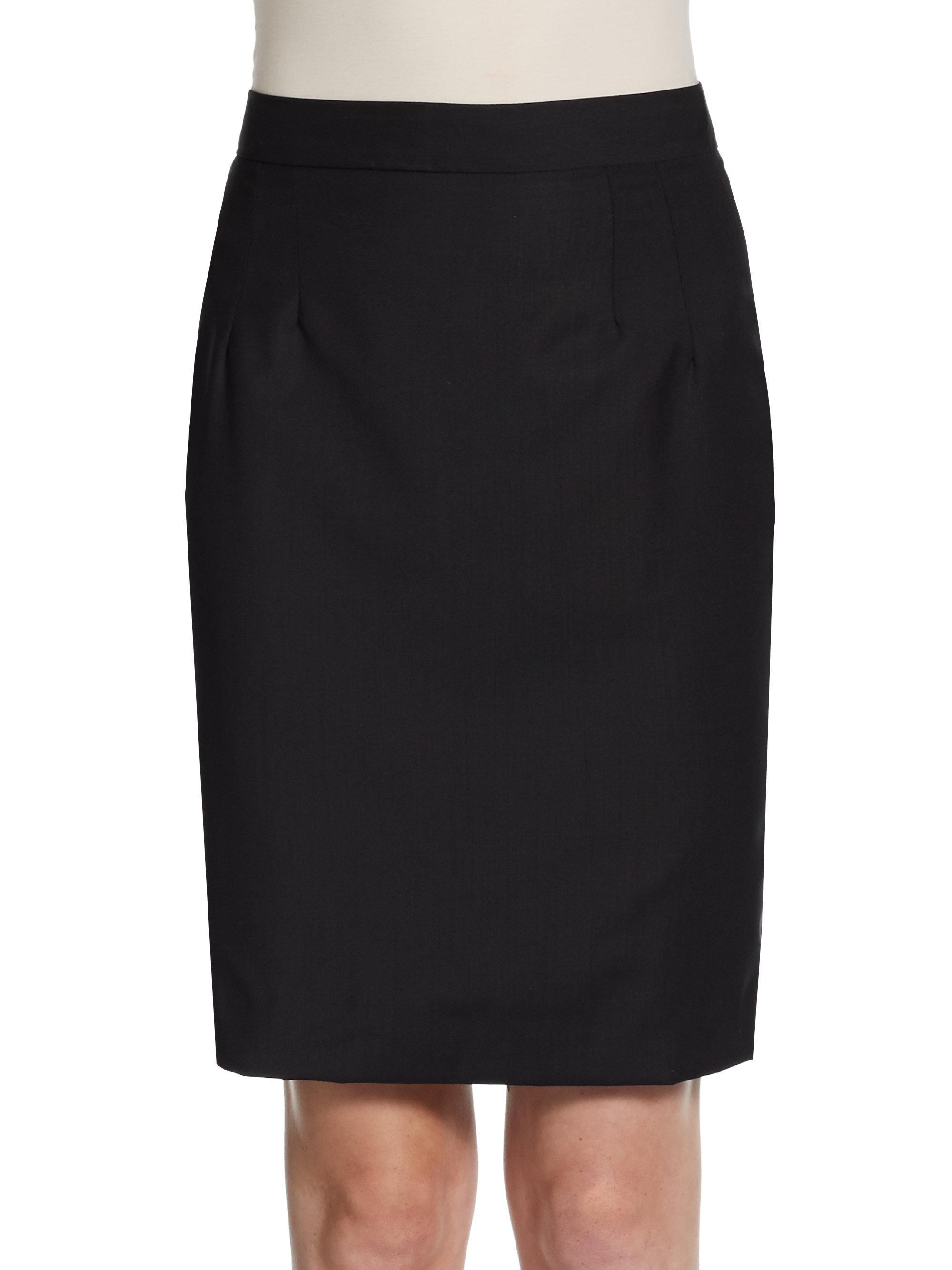 dolce gabbana wool pencil skirt in black lyst