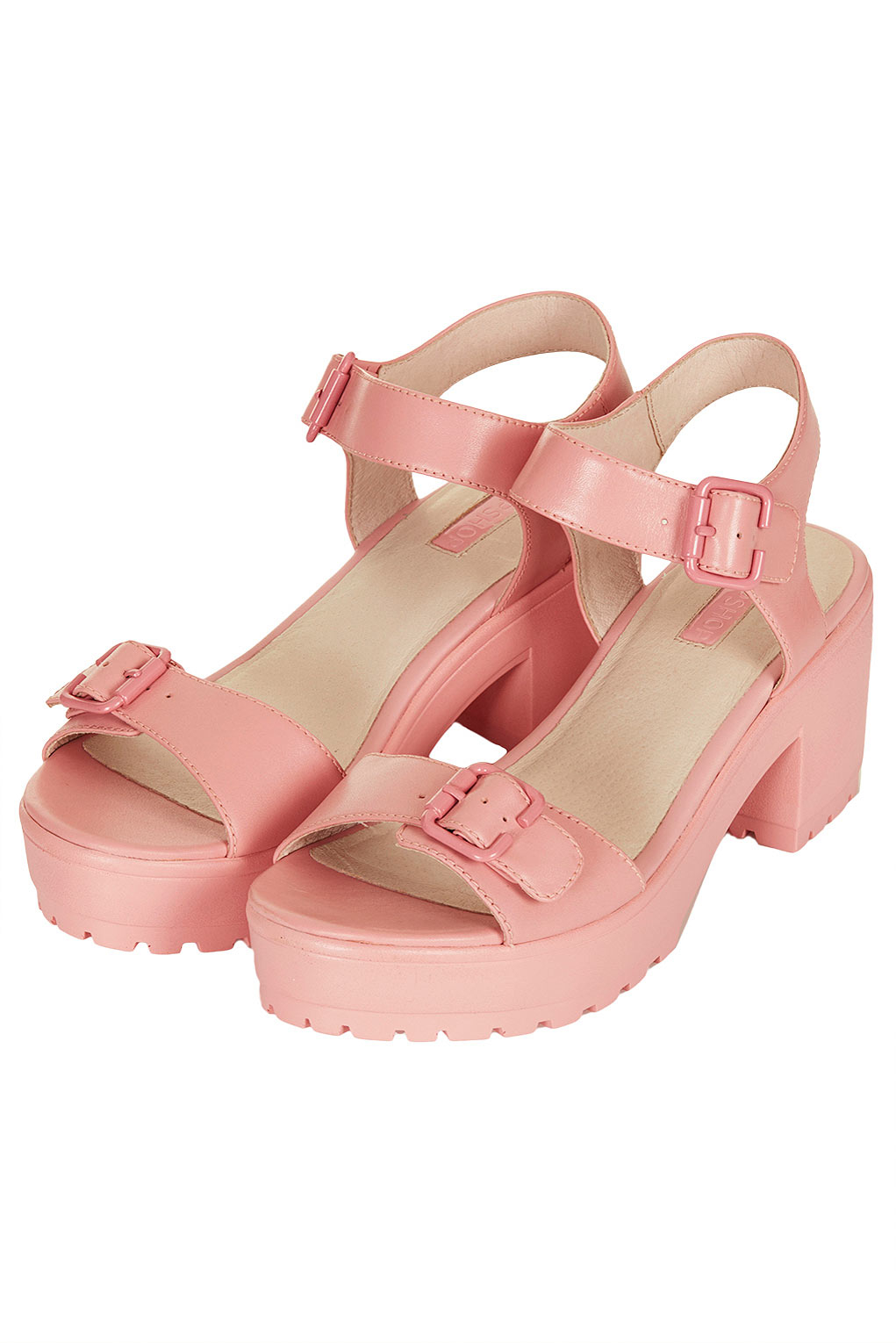 257206a2718 Lyst - TOPSHOP Womens Nation Two Part Chunky Sandals Pale Pink in Pink