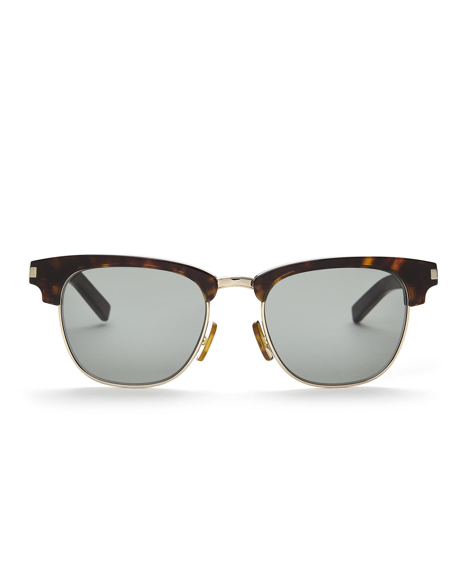 Half Rim Sunglasses  saint lau tortoises look gold tone sl 83 half rim