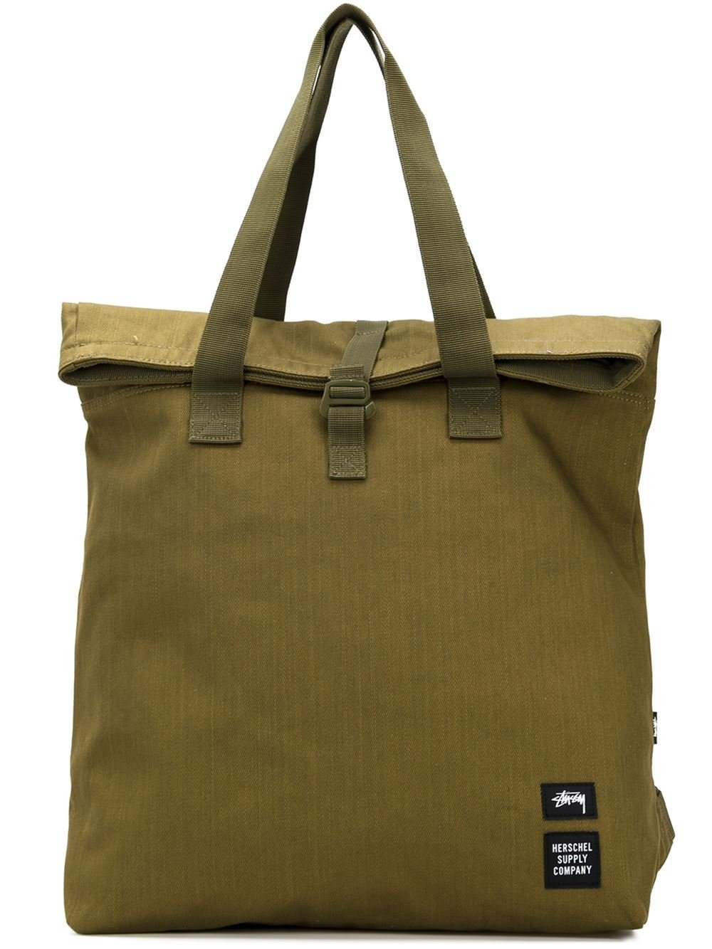 Stussy Canvas Tote Bag in Green | Lyst