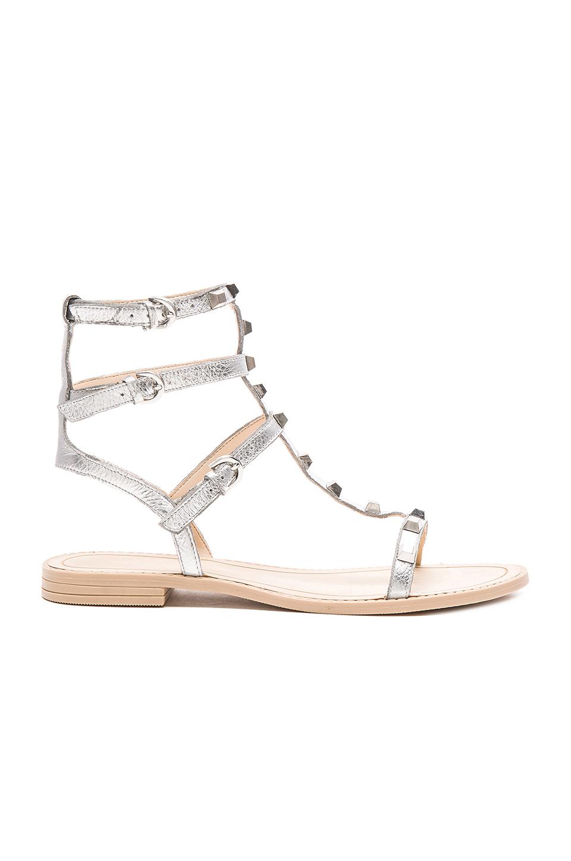 Rebecca Minkoff Georgina Sandal In Metallic Lyst