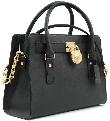 Michael Kors Medium Hamilton Ew 18K Bag in Black