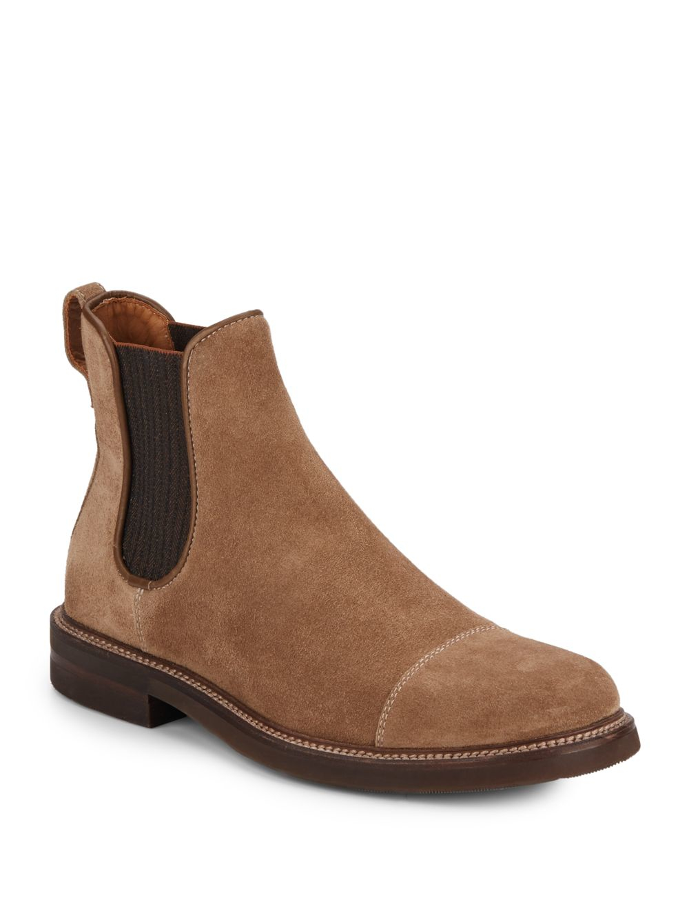 aquatalia philip suede chelsea boots in brown for lyst