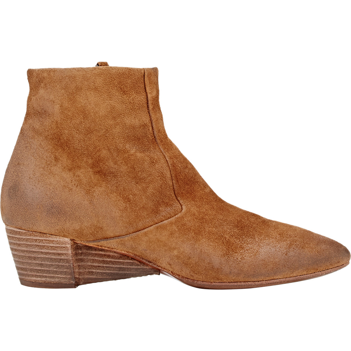 mars 232 ll suede wedge heel ankle boots in brown for lyst