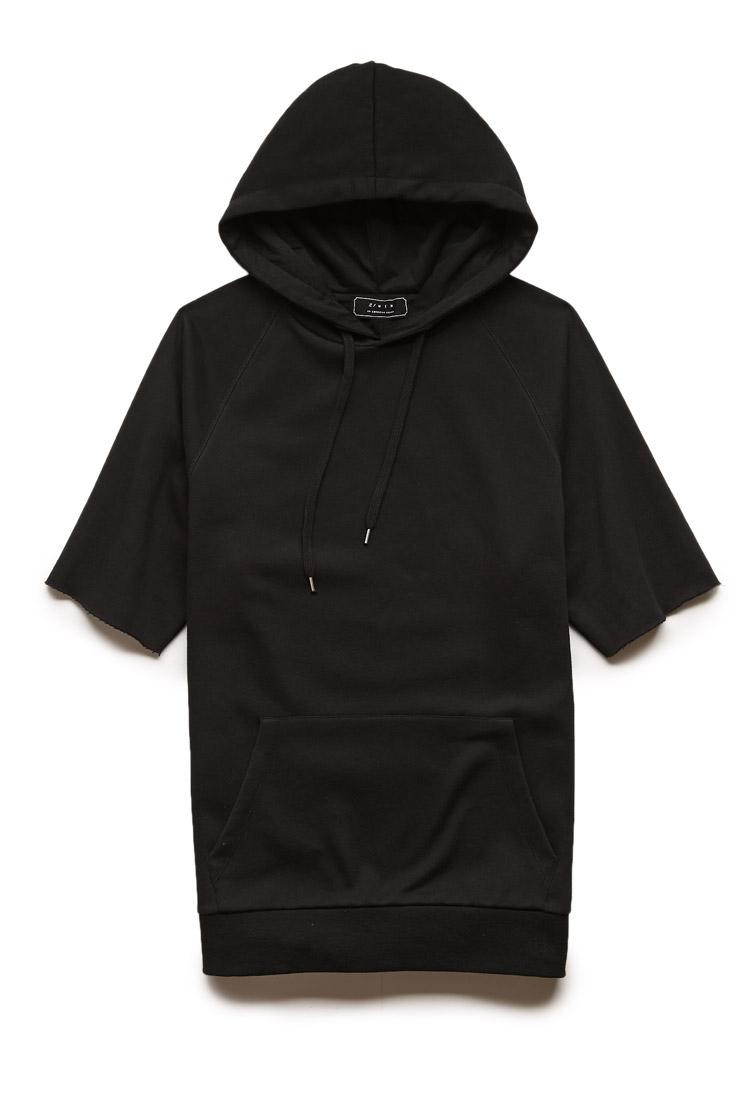 Forever 21 Short Sleeved Hoodie in Black for Men | Lyst