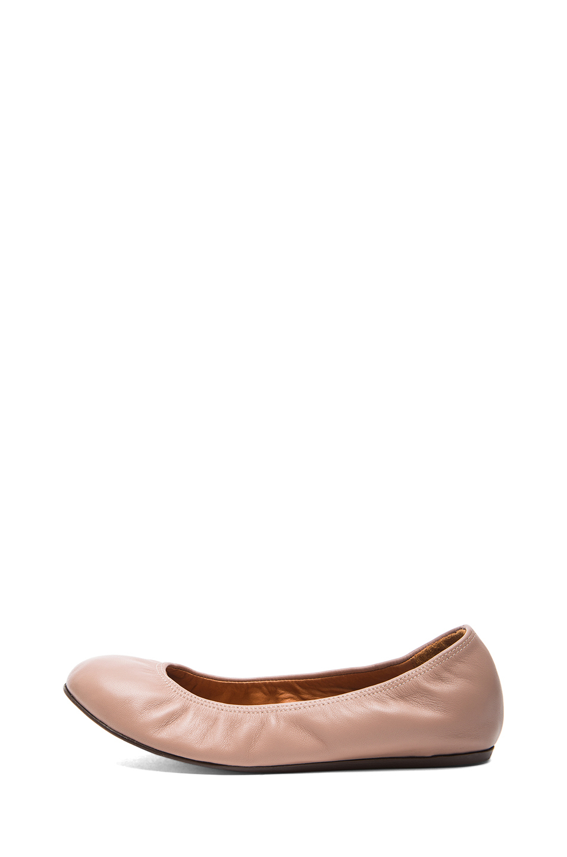 Ballerinas leather material beige Lanvin Sizjuzrg