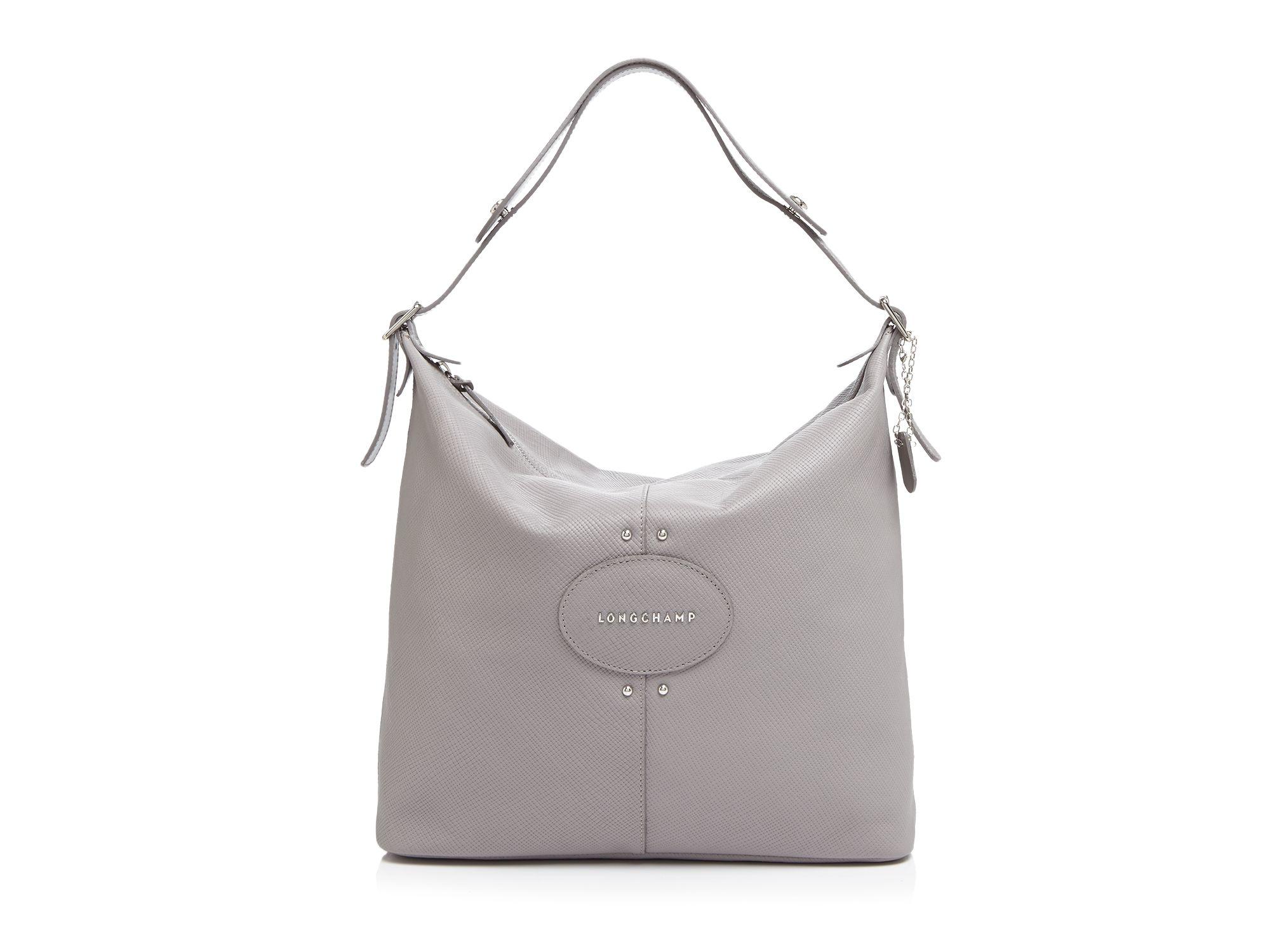 94e008955f96 Lyst - Longchamp Hobo - Quadri in Gray