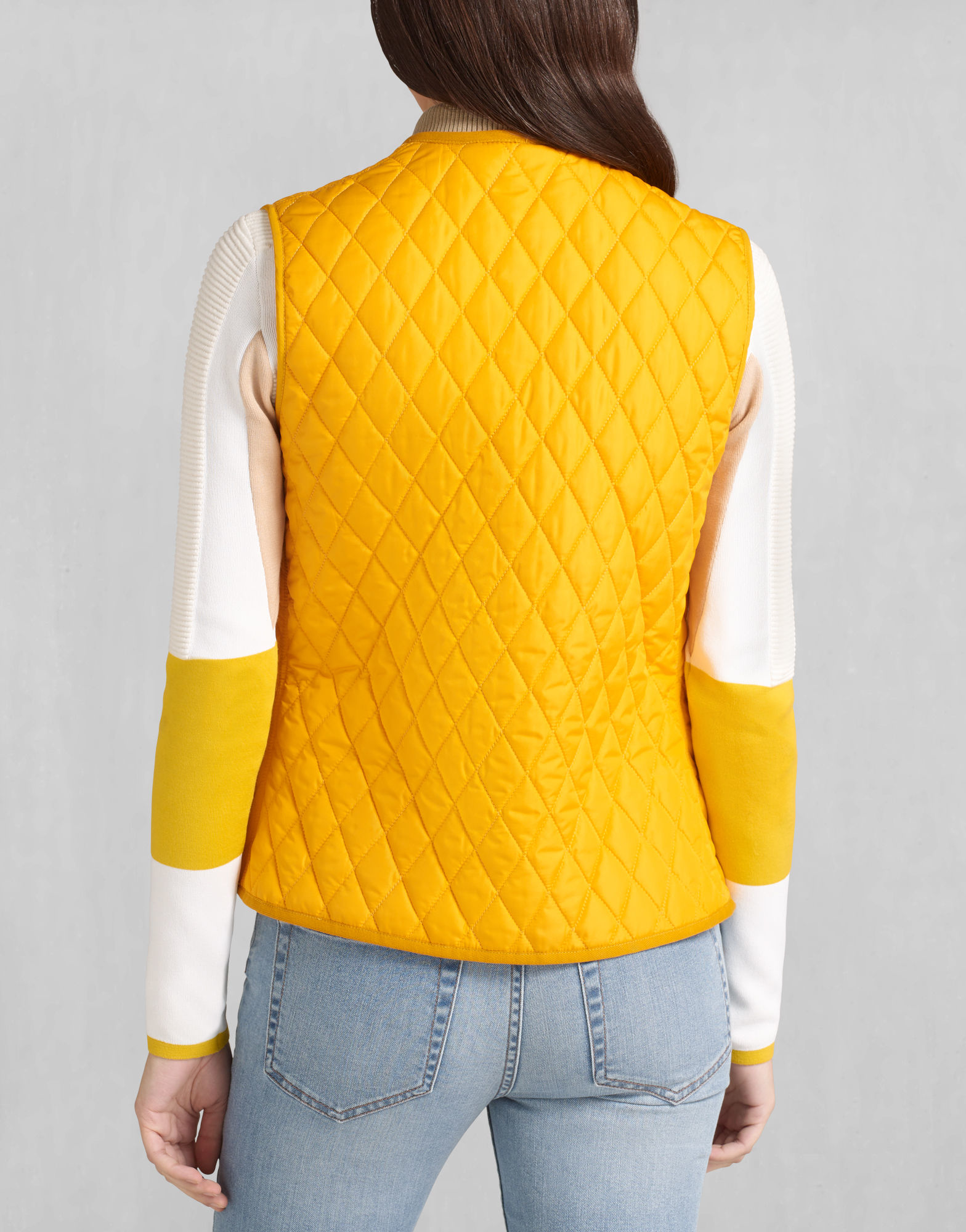 Belstaff Wickford Quilted Vest In Bright Mustard Lightweight ...