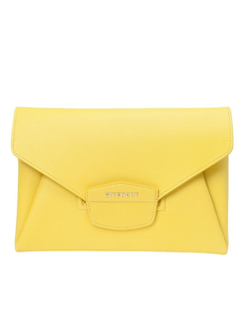 e68c31b6d1 Lyst - Givenchy Antigona Medium Envelope Clutch in Yellow