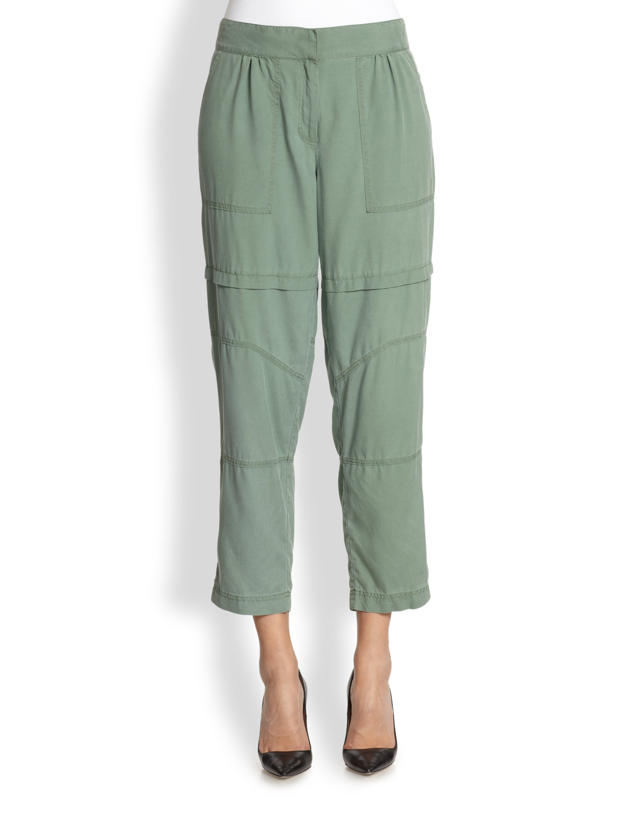 Elizabeth and james Kennedy Silk Cropped Cargo Pants in ...