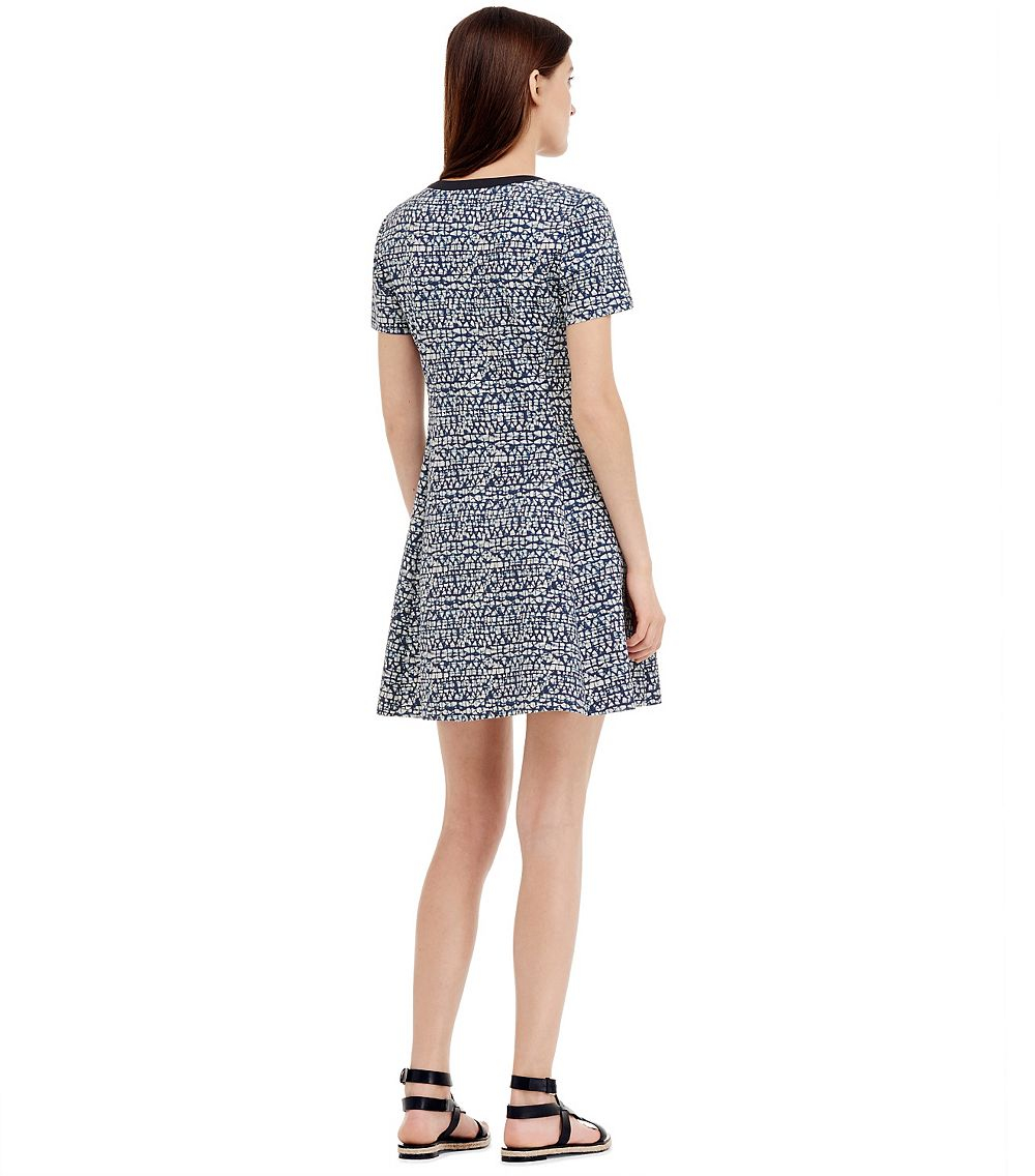 a68b5011ec8c Lyst - Tory Burch Ponte Dress in Blue