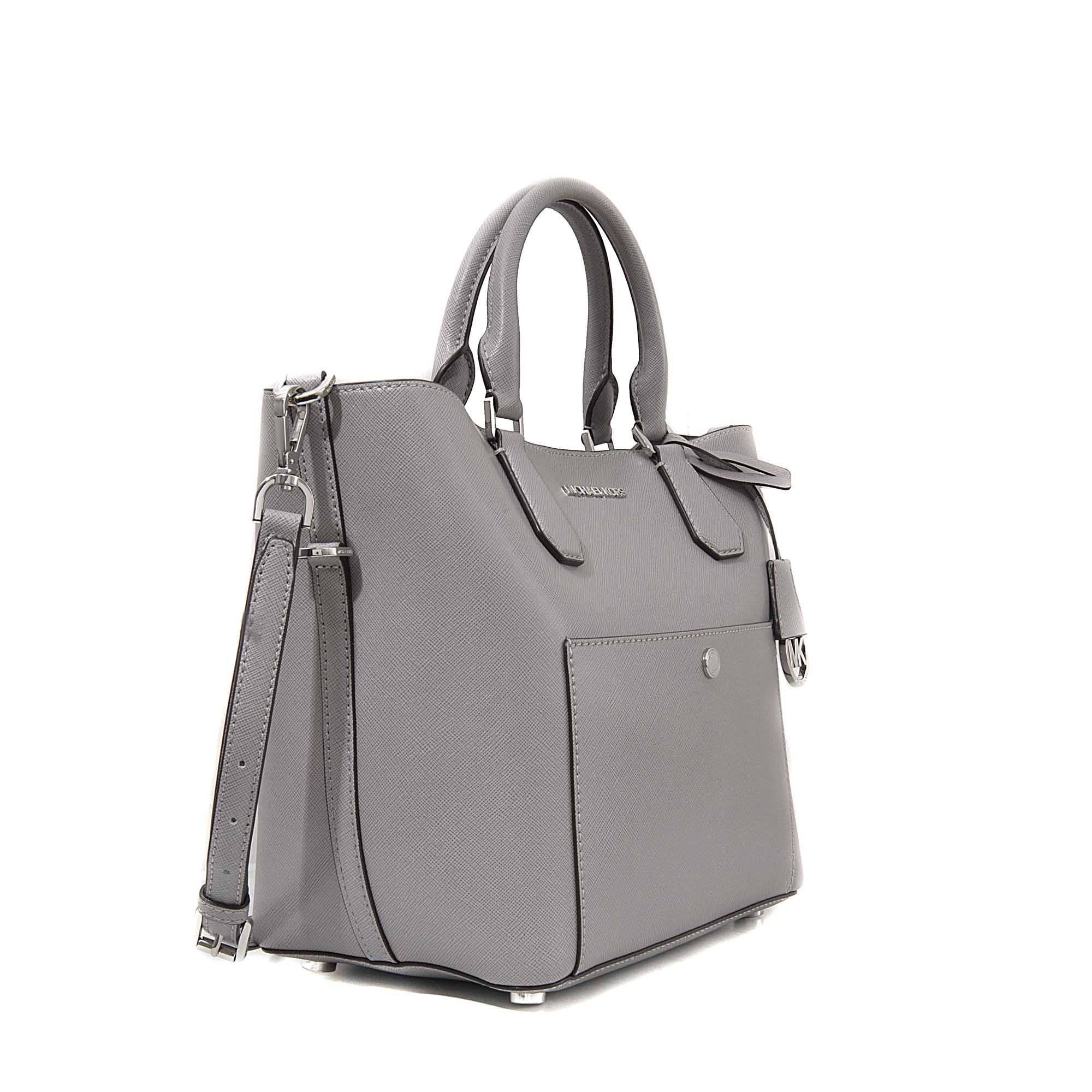 a62ef692dbbf47 ... Michael kors Greenwich Lg Grab Bag in Gray Lyst MICHAEL Michael Kors  Greenwich Large Saffiano ...