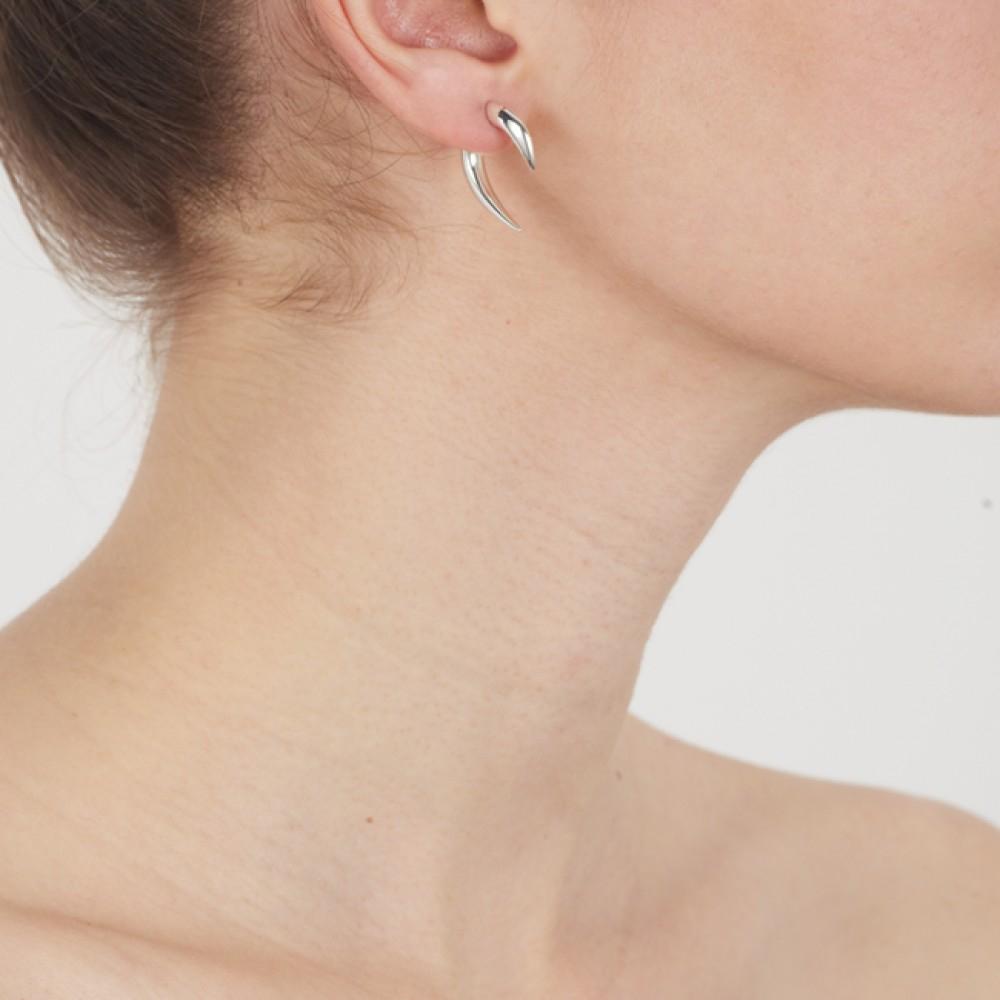 b223ad06a Shaun Leane Small Silver Talon Earrings in Metallic - Lyst