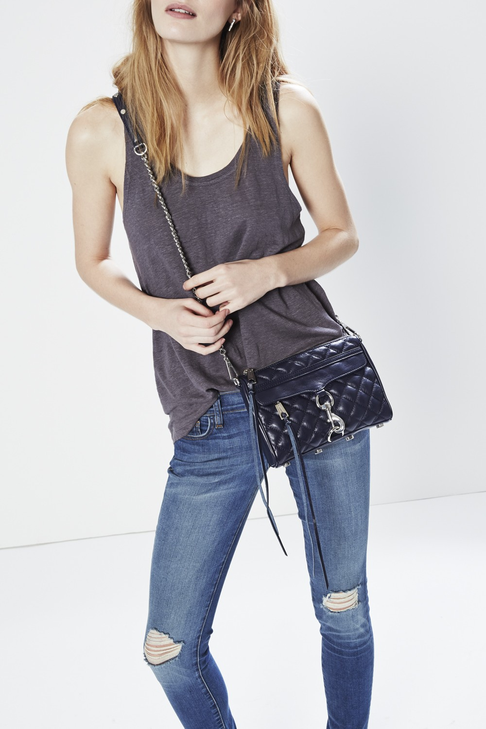 Rebecca Minkoff Quilted Mini M A C Crossbody In Blue Lyst