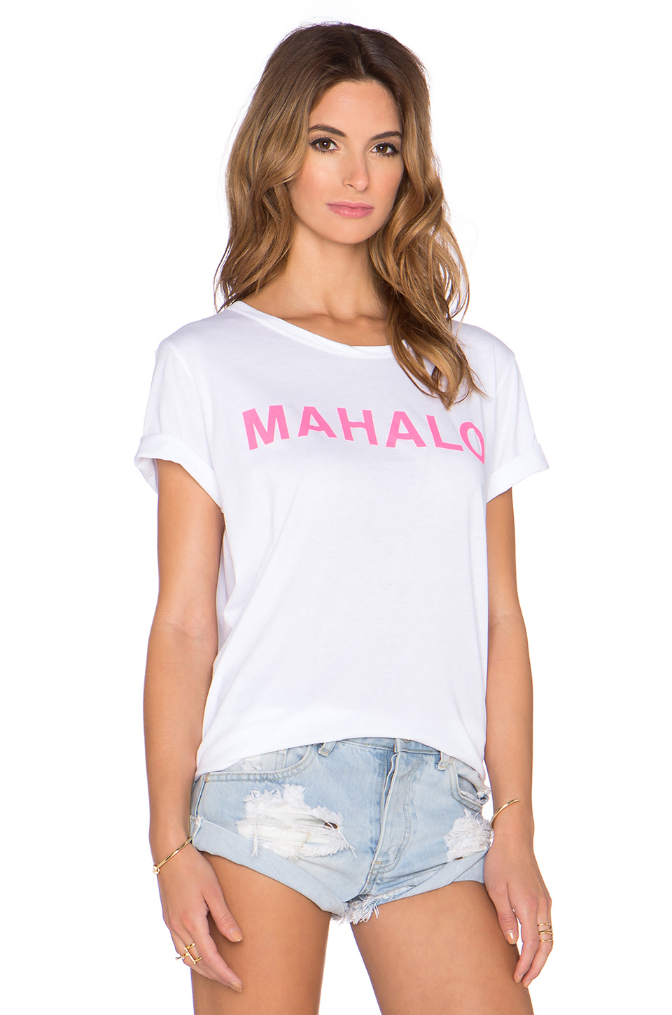 mikoh swimwear mahalo t shirt in white lyst. Black Bedroom Furniture Sets. Home Design Ideas