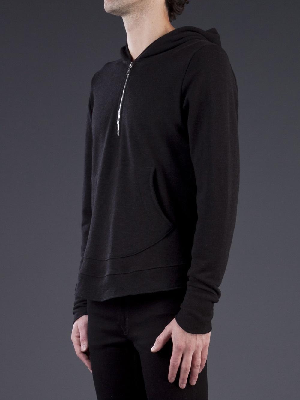 John elliott Riga Half Zip Hoodie in Black for Men | Lyst