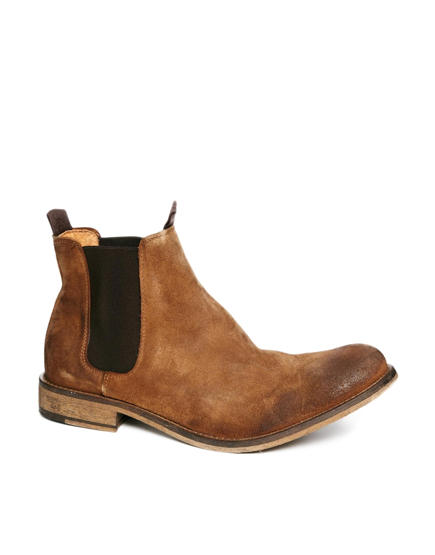 3e98cb9da38a2 Lyst - Selected Homme Melvin Suede Chelsea Boots in Brown for Men
