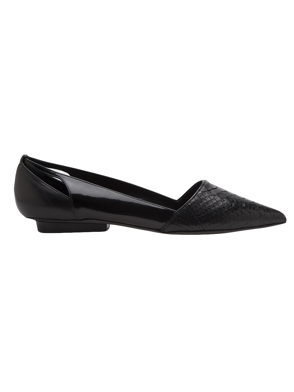 Lyst Narciso Rodriguez Pointed Toe Flat In Black