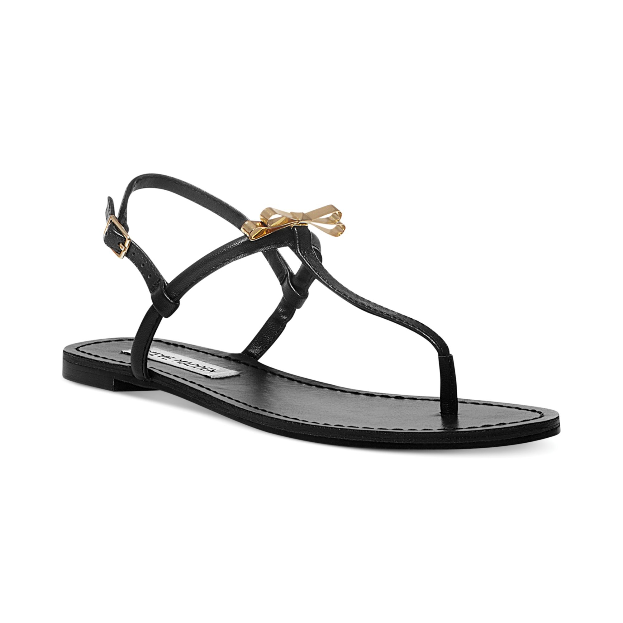 Simple Home Shoes Womens Sandals Grace Women Leather Black Thong Sandal