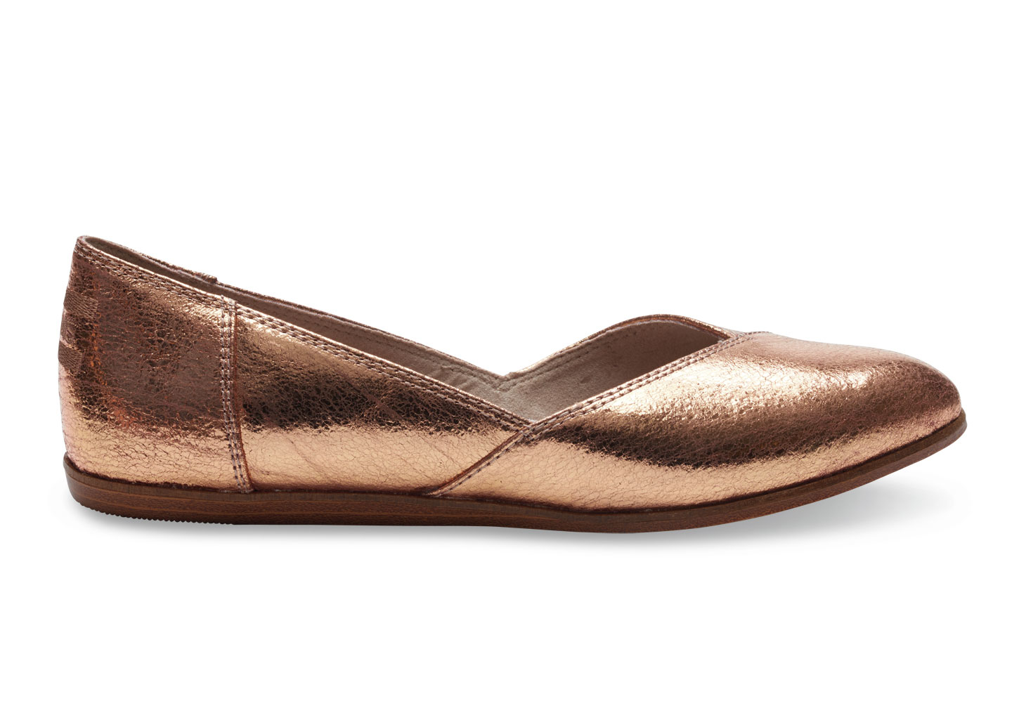 4dd5048c904 Lyst - TOMS Rose Gold Leather Women s Jutti Flats in Pink
