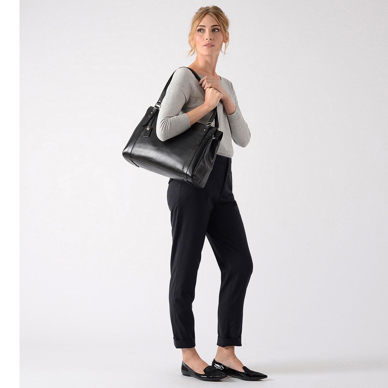 d22d4890a Radley Chelsea Large Leather Work Bag in Black - Lyst