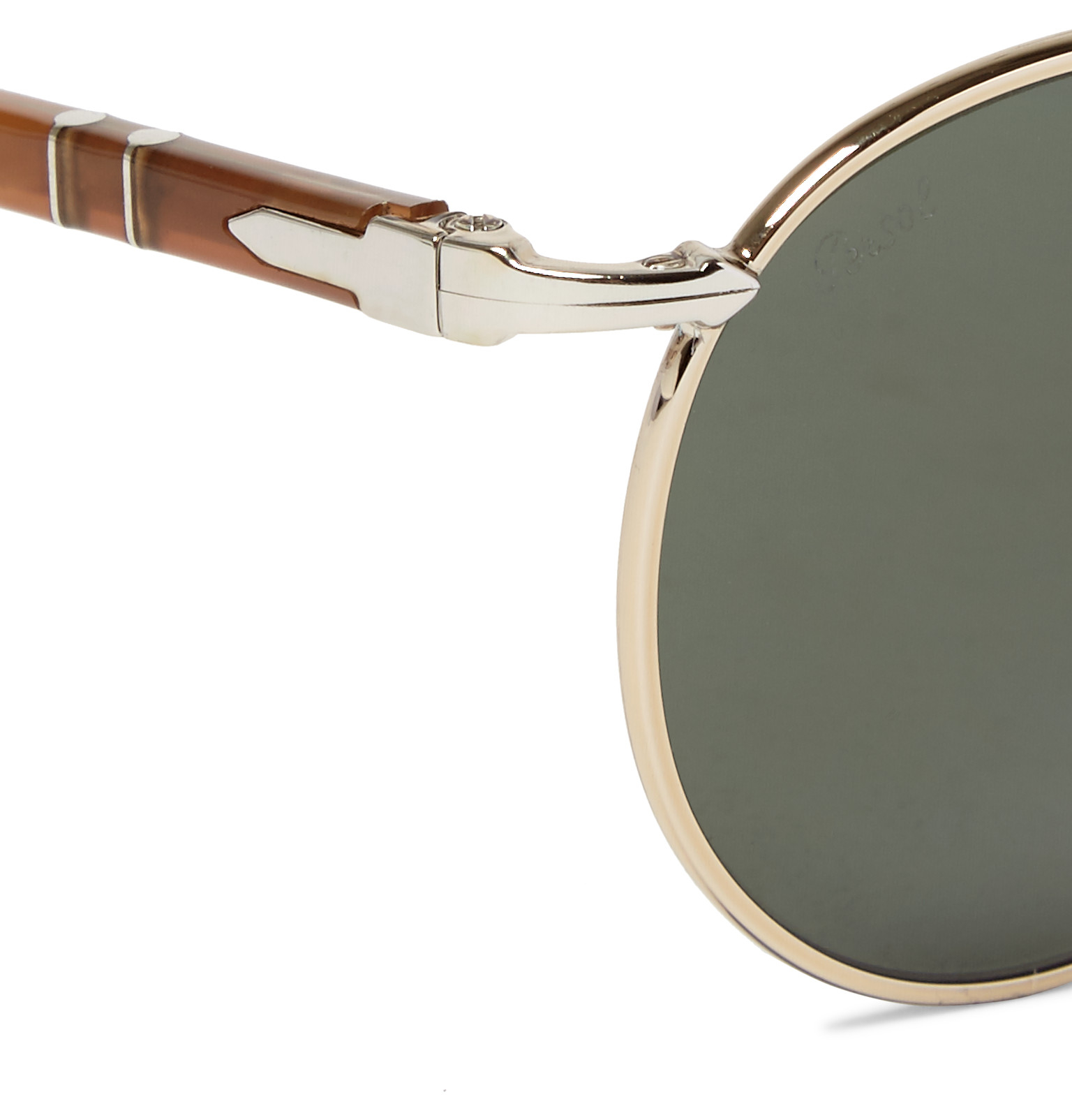a02a8fed22 Persol Round-frame Silver-tone Sunglasses in Metallic for Men - Lyst