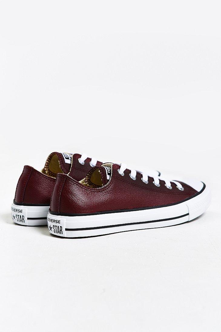 Purple Leather Converse Shoes