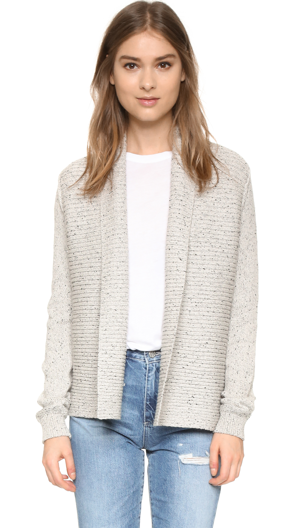Soft joie Donda Cardigan in White | Lyst