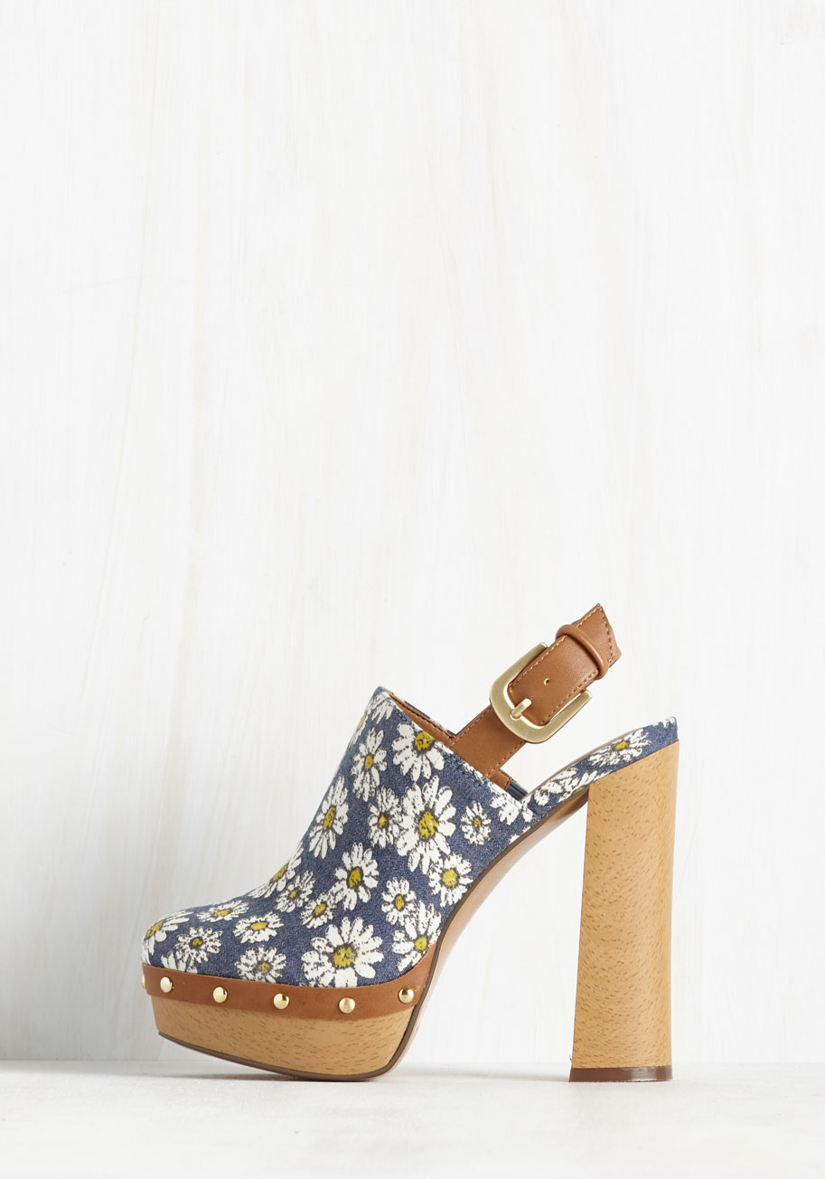 report mylie slingback platform clogs in blue lyst