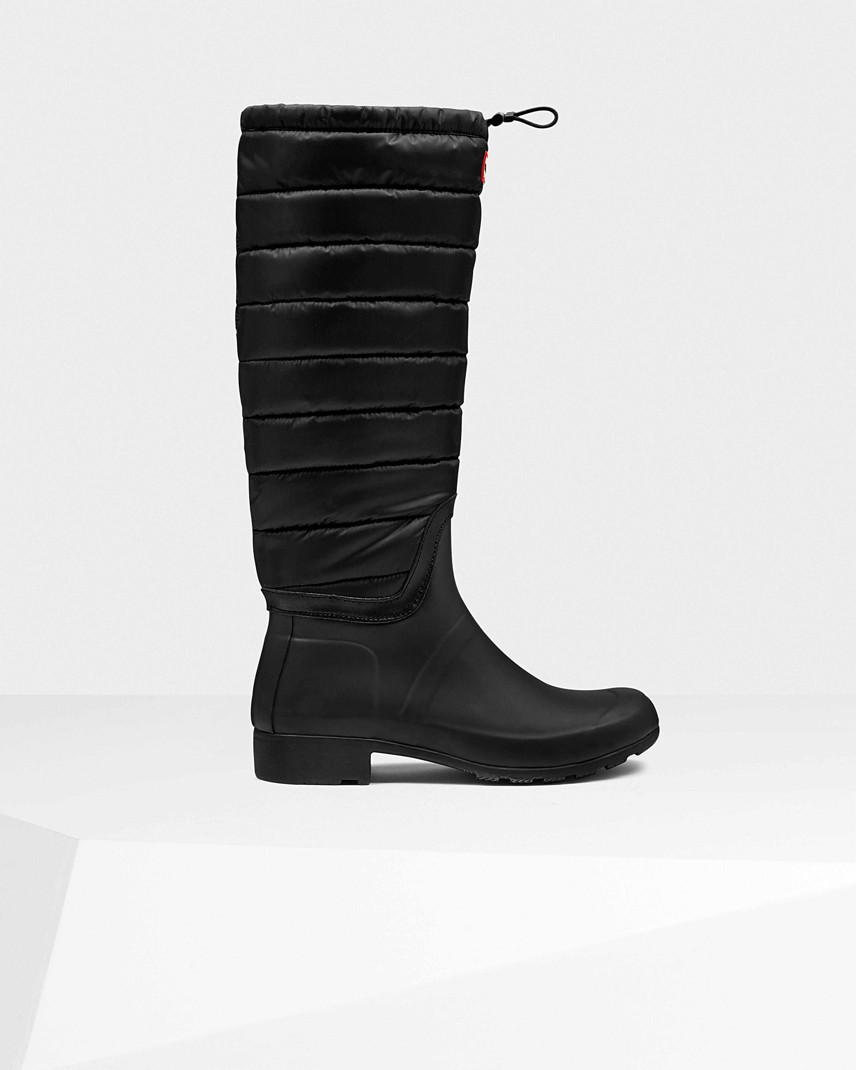 Hunter Womens Original Tall Quilted Leg Wellington Boots
