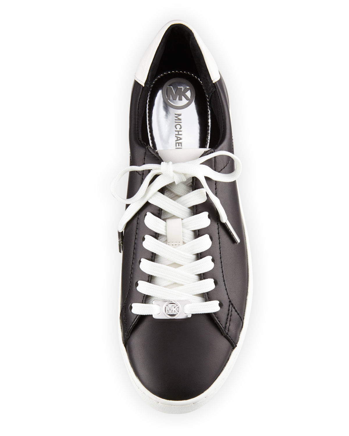 9dd3ac65e975 Lyst - MICHAEL Michael Kors Irving Leather Lace-up Sneaker in Black