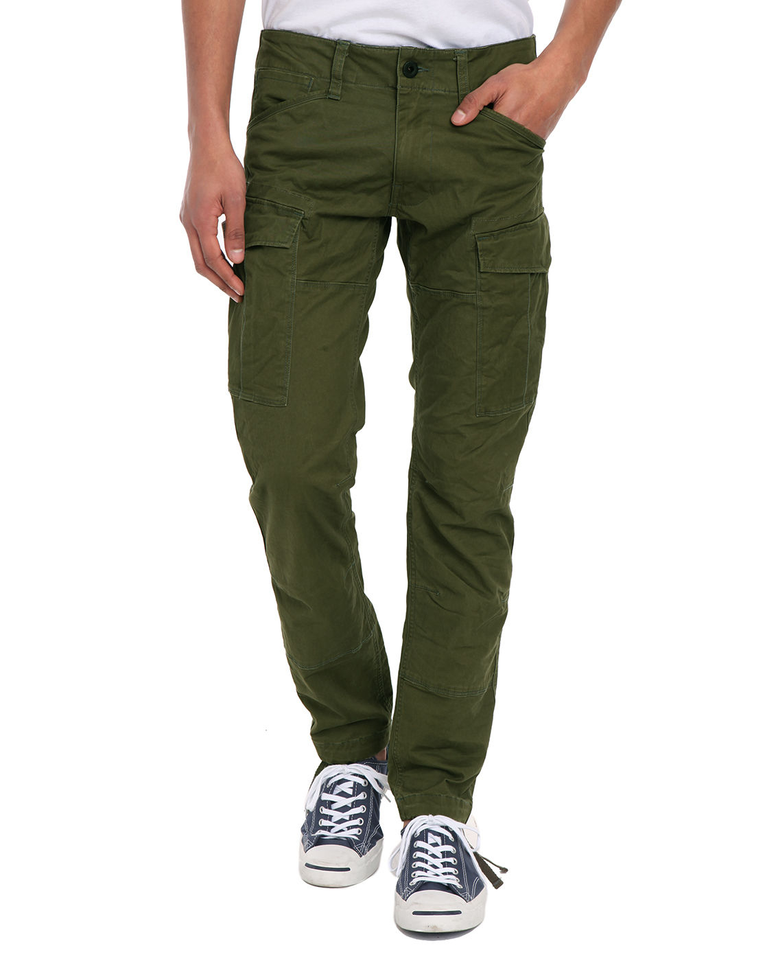 G-star raw Rovic Khaki Slim-fit Cargo Trousers in Green for Men | Lyst