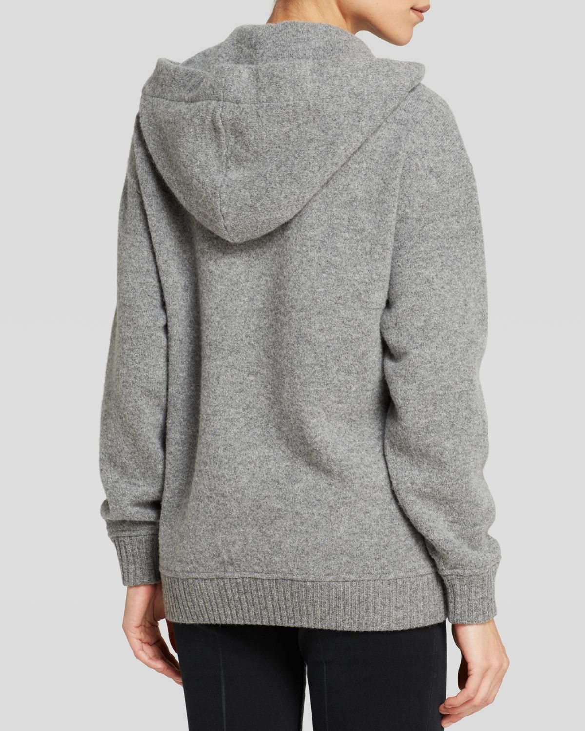 marc by marc jacobs sweater jackson hooded in gray lyst. Black Bedroom Furniture Sets. Home Design Ideas