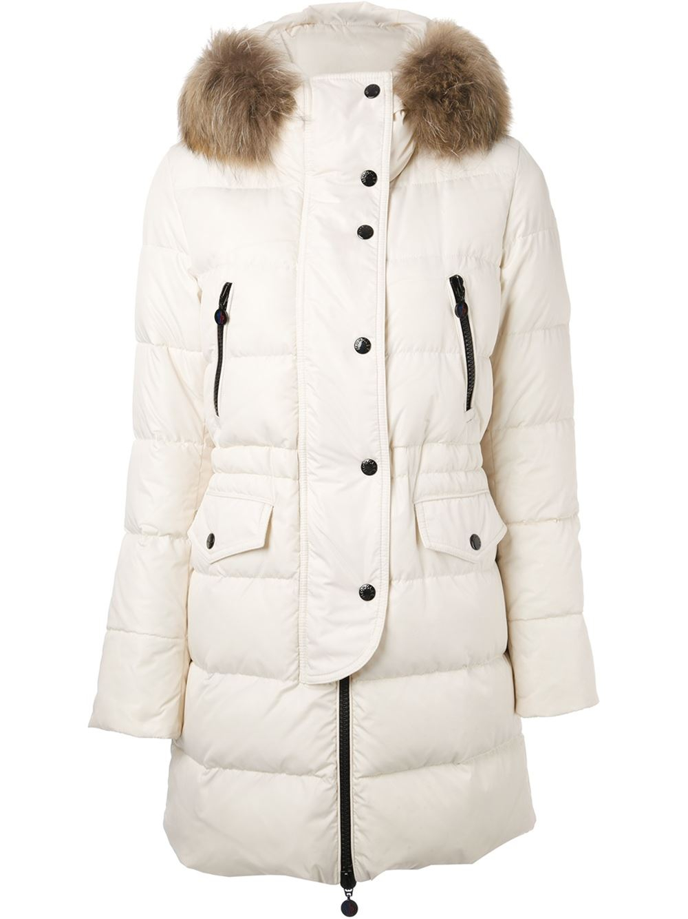 b080a5d4b Moncler Fragon Padded Coat in White - Lyst