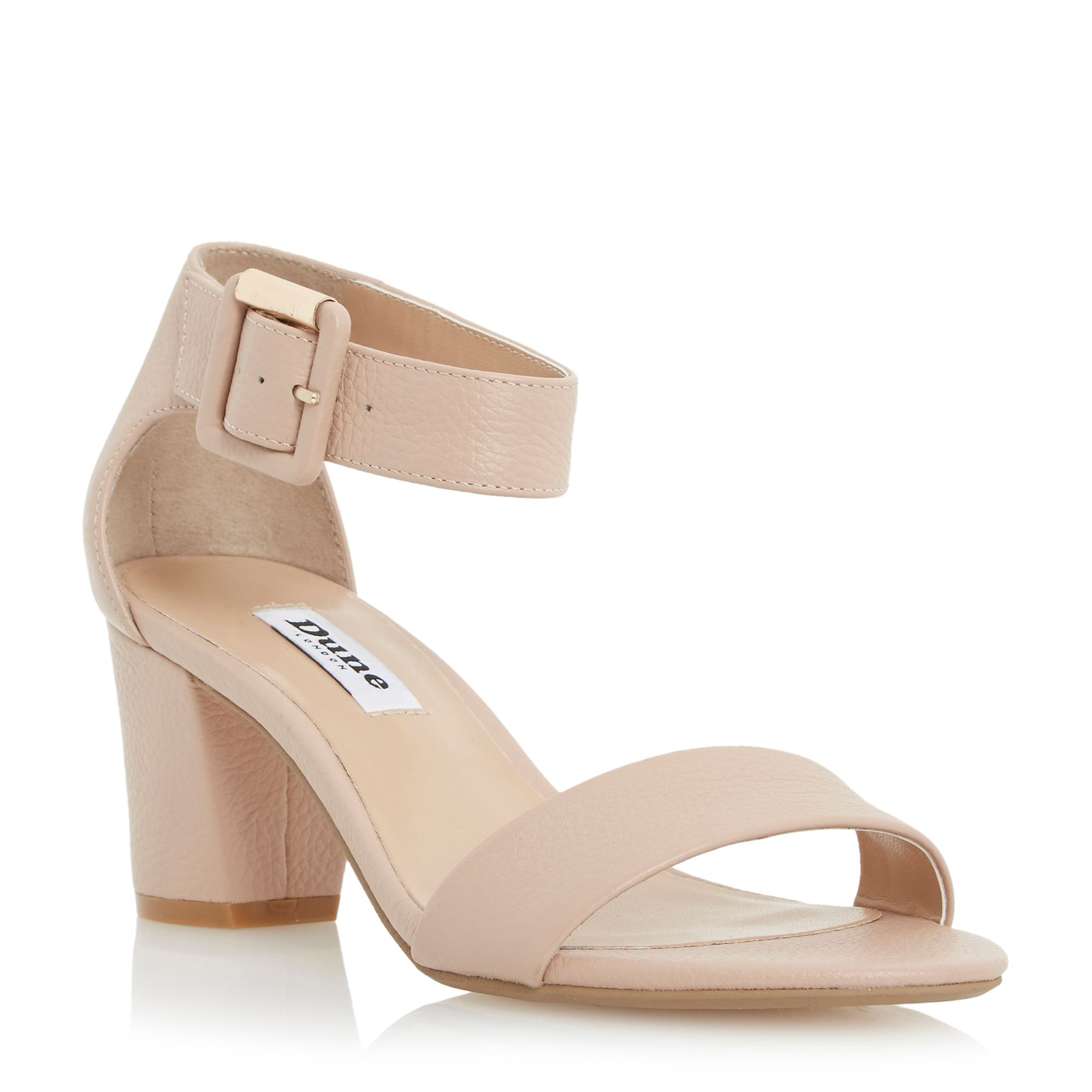 Lyst Dune Joye Block Heel Sandal In Natural