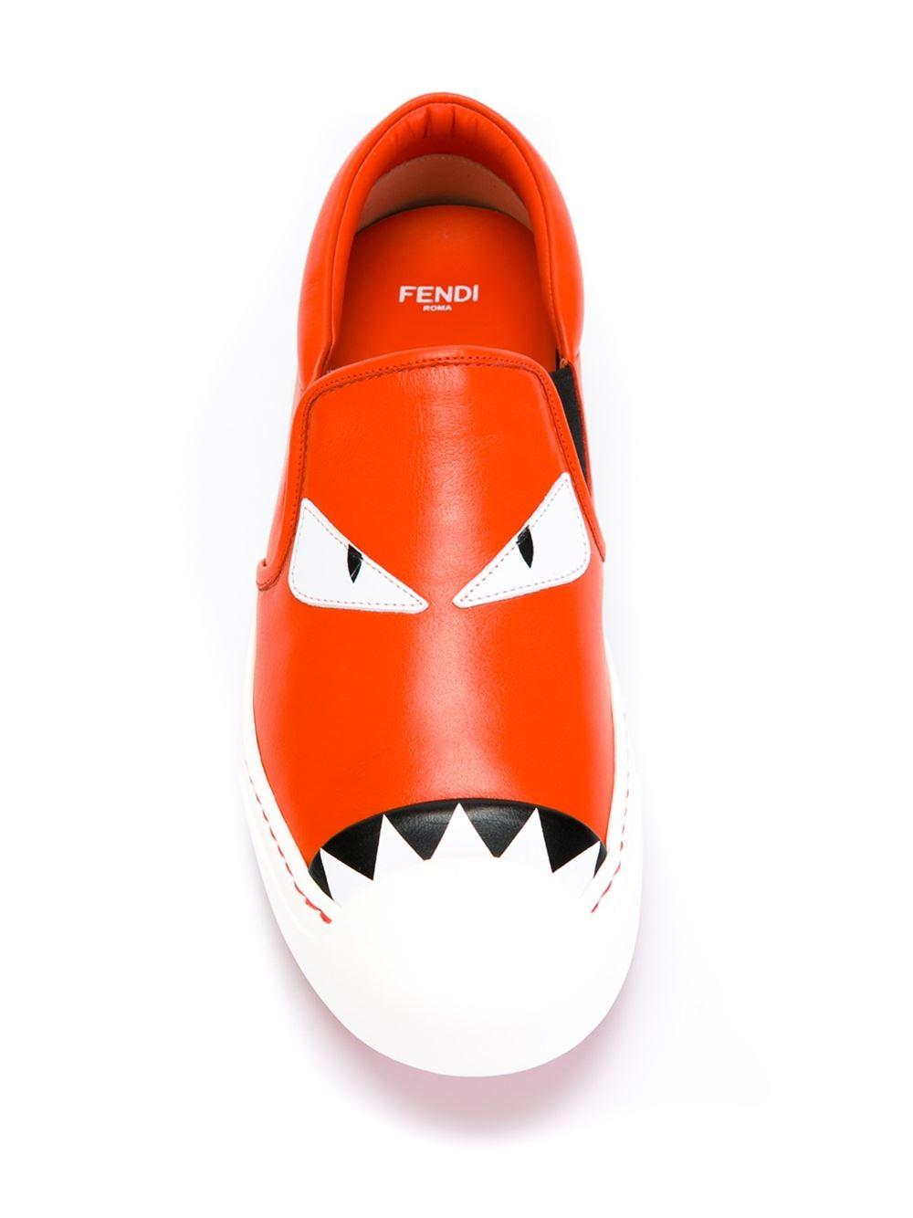 Blue and Red Bag Bugs Sneakers Fendi VT9gCRT2v