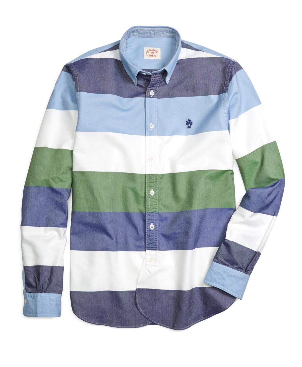 Brooks brothers supima cotton oxford multi stripe sport for Brooks brothers sports shirts
