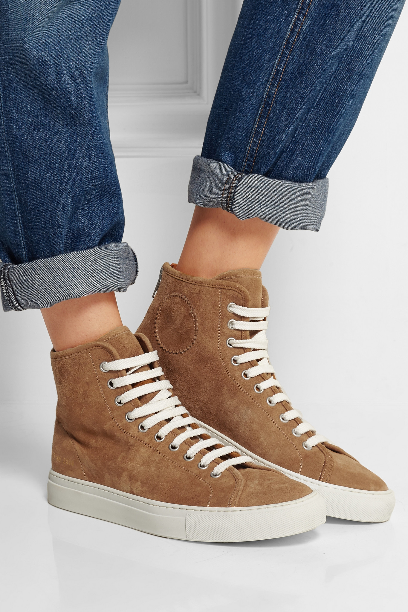 566691c668b9 Common Projects Tournament Suede High-top Sneakers in Brown - Lyst